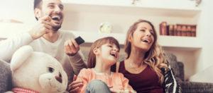 Happy Family Enjoying Their Home